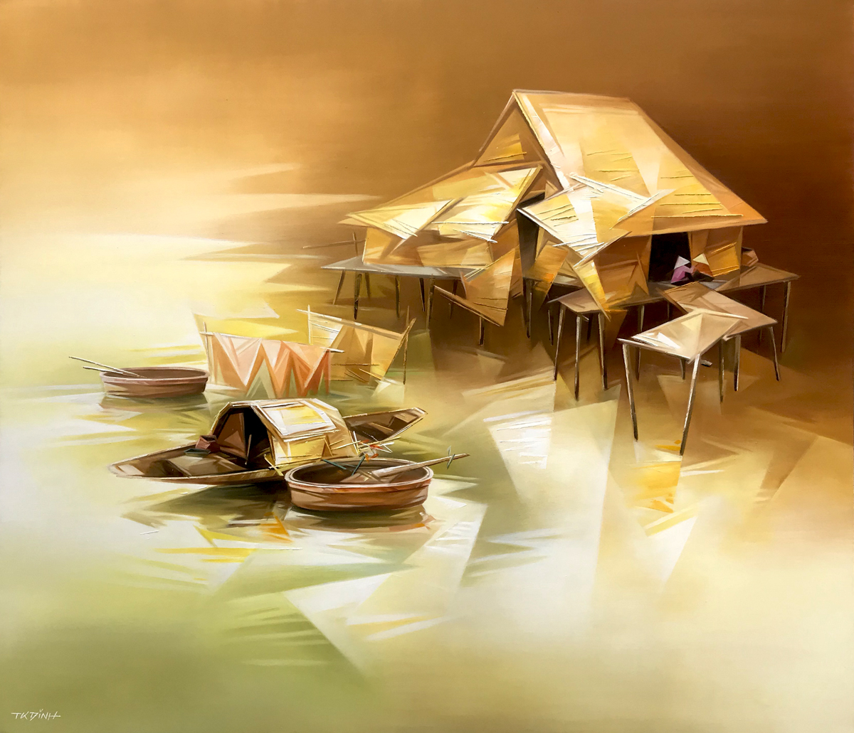 Fishing village 05-TQD-130X150CM