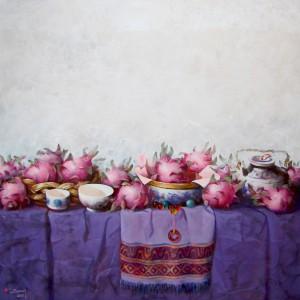 Still life with Dragon fruits-Original Vietnamese Art