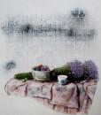 Still life with Statice flowers-Original Vietnamese Art